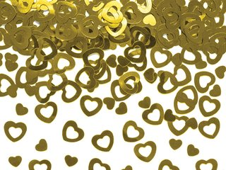 Konfetti - Herzen Goldmetallic Outline