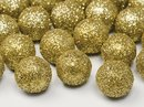 Glitzer-Dekoball Gold
