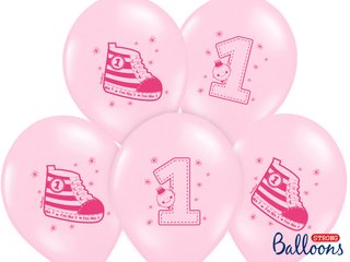 6 Stck. Luftballon 30 cm Pastell strong - Baby Pink No.1