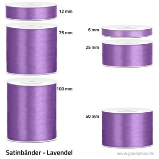 Satinband - 25 mm x 25 m - Lavendel