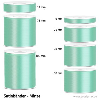 Satinband - 100 mm x 25 m - Minze